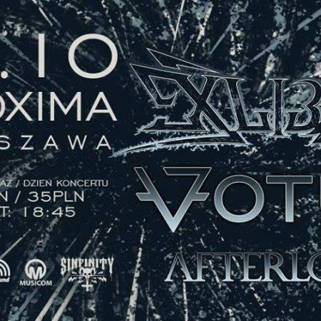 Exlibris / Votum / Afterload w Warszawskiej Proximie @ Klub Proxima, ul. Żwirki i Wigury 99a, 02-089